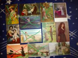 Romantikus témàjú szecessziós képeslapok az 1900-as èvek elejèről 600 Ft/db