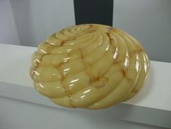 Art deco márvány mintás lámpa üveg bura