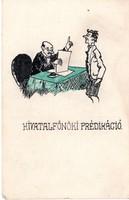 Hivatalfőnöki prédikáció Szép egyedi, rajzos képeslap!