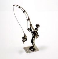 Ezüst horgász miniatűr (ZAL-Ag94510)