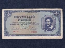 Háború utáni inflációs (1945-1946) 1 millió Pengő bankjegy 1945 (id21638)