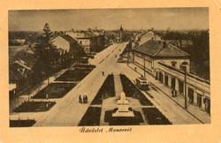 """*C"""" - 057 Futott magyarországi képeslapok  Monor - látkép  (eredeti 60 filléres)"""