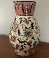Karizmatikus nagyméretű muzeális Zsolnay váza extra minőségben, gazdagon aranyozva