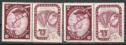 1959.Bélyegnap** szelvényes bélyeg + sérült bélyeg pár