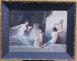 Csodaszép!!!!! Ismeretlen festőművész – Mitológiai jelenet című festménye – 144.