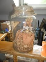Antik jelzett berakott befőttes üveg