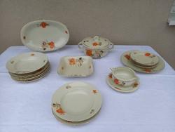 Ritka, régi, 6 személyes Drasche porcelán étkészlet