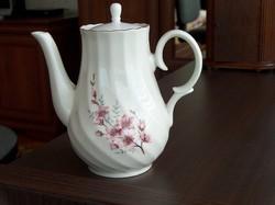 Szép formájú porcelán tea/kávé kiöntő