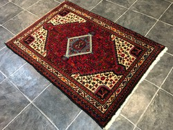 HAMADAN - Régi IRÁNI kézi csomózású gyapjú PERZSA szőnyeg, 88 x 127 cm