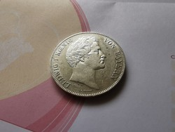 1845 Bajor ezüst dupla tallér-gyönyörű állapotban,Ritkaság!