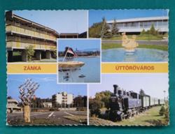 Magyarország,Balaton,Zánka az úttörőváros használt képeslap,1986