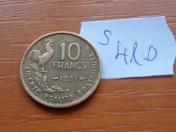 FRANCIA 10 FRANCS FRANK 1951 KAKAS S410