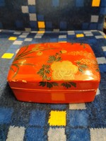 Pompás festett, lakkozott fa ékszertartó doboz