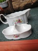 Díszes arpo porcelán kiöntő+fűszer tartó