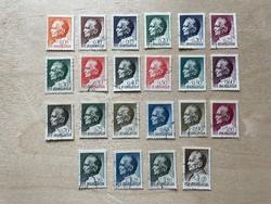Jugoszlávia 1967-68 - Josip Broz Tito bélyeg sor (22db)