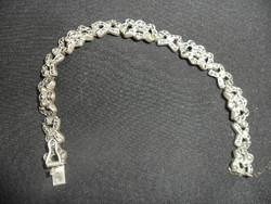 Art deco markazitköves ezüst karkötő