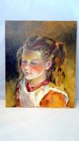 Kislány a napon  olajfestmény