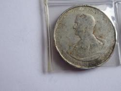 Horthy Miklós ezüst 5 pengős pénzérme, kopott állapotban