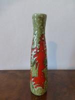 Gyönyörű,retro,vintage absztrakt mintás iparművész váza