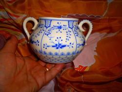 Családjegyes  Zsolnay antik porcelán cukortartó
