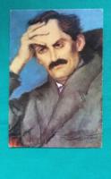Rippl-Rónai József :Babits Mihály ,1923,festmény fotója képeslapon,postatiszta