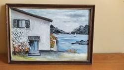 Bájos kis festmény 32x22 cm