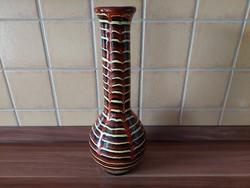 Kerámia csíkos  váza 30 cm