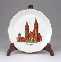 1E366 Régi aquincumi porcelán tányér SZEGED