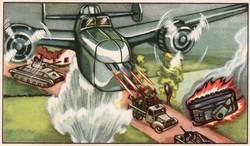 Gyűjthető grafikus katonai képeslap, N 44 Geallieerde Luchtmacht