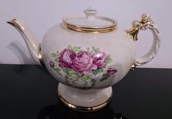 Angol, vintage, jelölt, fajansz érett teáskanna
