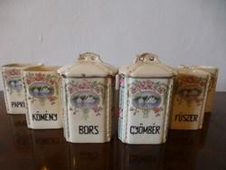 Gyönyörű,antik,hattyú mintás,Monarchia kori,XIX. századi fűszertartók
