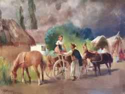 Burchard Bélaváry István - Életkép - Munumentális festmény