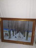 1,-Ft Farkas András galériás festmény
