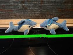 Plüss delfinpár    kulcstartónak dísznek pároknak