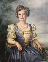 Udvardy Flóra - nemes hölgy portré
