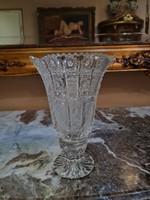 Gravírozott kristály váza