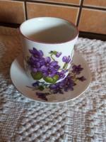 Zsolnay mokkás csésze alátéttel