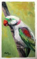 Papagáj - olajfestmény