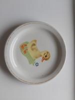 Zsolnay kacsás gyermek tányér