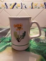 Rosenberger porcelán bögre - csésze, virág dekorral