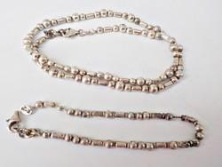 Különleges 925 ezüst nyaklánc és karkötő szett