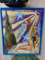 Erotikus olaj vászon festmény