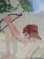 Antik gobelin Angyalkás 125 cm x 102 cm