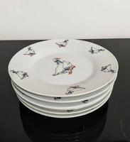 A.M.L. Royal 6 darabos Német porcelán kistányérkészlet