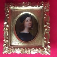Firenzei Raffaello Sanzio Porcelán Kép.Jelzett.