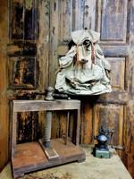 Sonkaprés, régi keményfa prés, működő, 20. század eleje