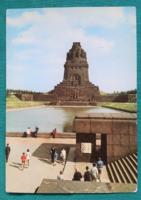 Németország,Lipcse,Nemzetek harcának emlékműve,használt képeslap,1978