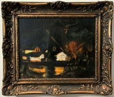 József Koszta (1861-1949) fekete szélmalom