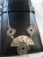 Eladó régi ezüst kézműves Mexikói nyakék!