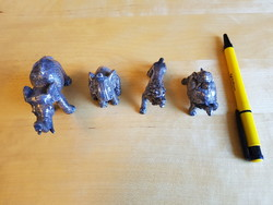Ezüst állat szobor kollekció / Silver animal statue collection